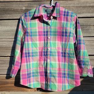 Chaps Long Sleeve Button Down Shirt Petite Large